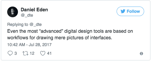 Tweet: digital design tools