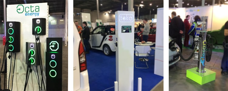 Charging stations presented at the Plug-in Ukraine exhibition