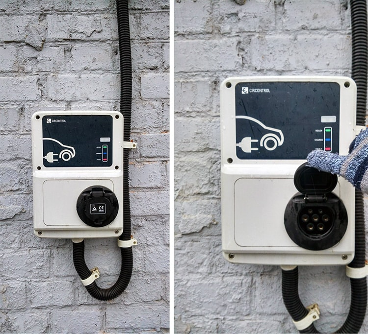 Existing commercial EV car charging station