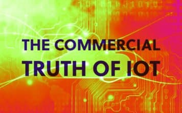 "Image of an IoT platform and the words ""The Commercial Truth of IoT"""