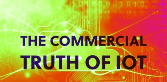 """Image of an IoT platform and the words """"The Commercial Truth of IoT"""""""
