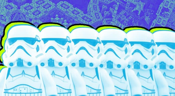 Picture of Stormtrooper legos