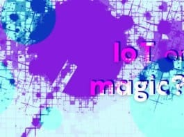 "Image of a magician's wand and the words ""IoT or Magic?"""
