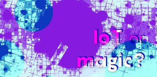 """Image of a magician's wand and the words """"IoT or Magic?"""""""