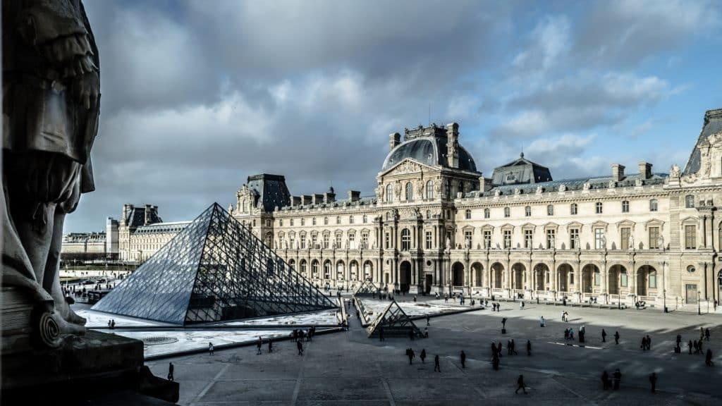 A photo of the garden at the Louvre, Paris. Could it be a future smart museum?