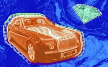 Photo of a Rolls Royce and a Diamond
