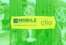 Image of the Mobile World Congress Logo over the trophy from Mobile World Congress