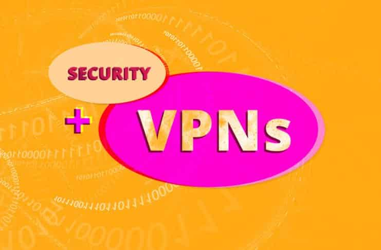 """Image of the words """"Security + VPN"""" over binary code"""