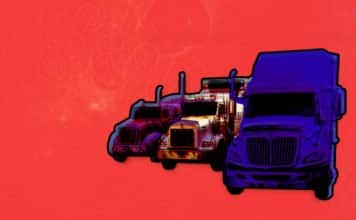 Image of three trucks