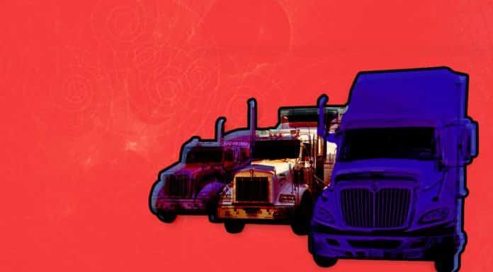 Image of three trucks