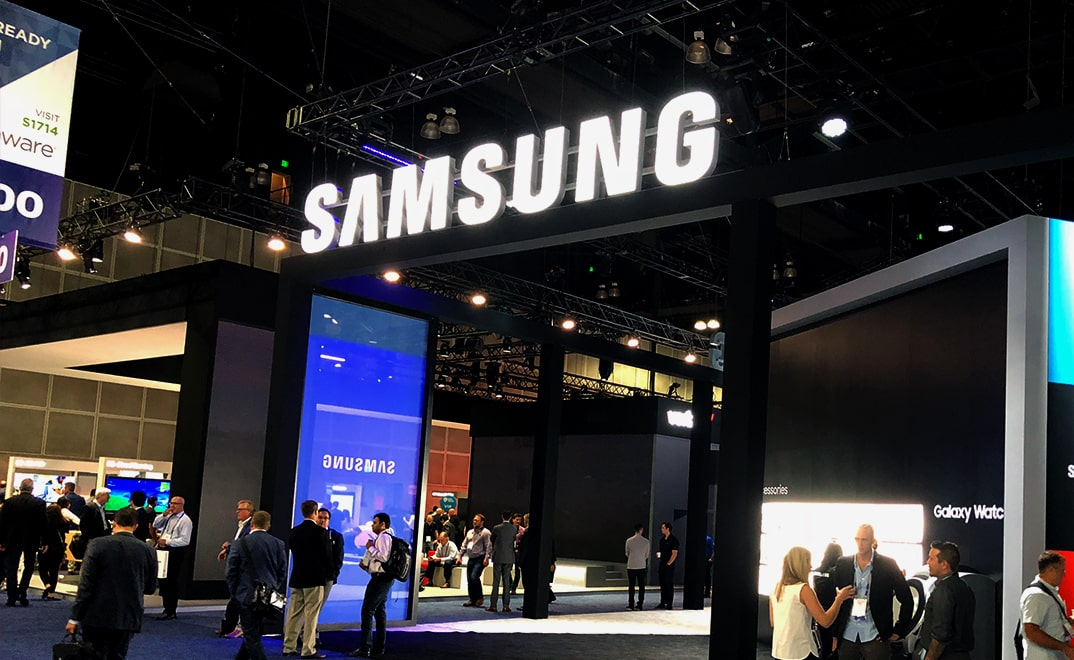 Photo of the Samsung Booth at MWCA 2018