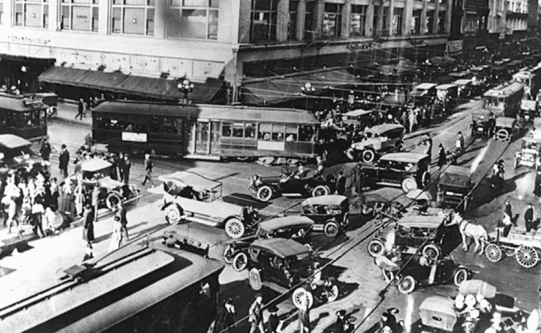 No lane dividers, signals or crosswalks before the Industrial Revolution. This is a good analogy for IoT and the power REST APIs could offer IoT systems