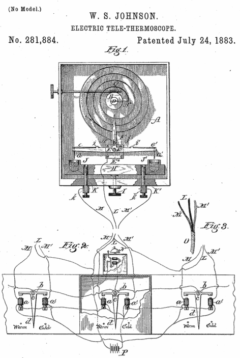 old diagram of an electro tele-thermostat—a precursor to the modern AI and IoT enabled HVAC