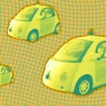 image of google's self driving car prototype