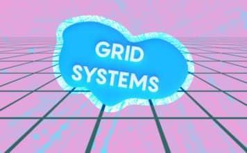 """Image of a grid with a cloud that reads """"Grid Systems"""""""