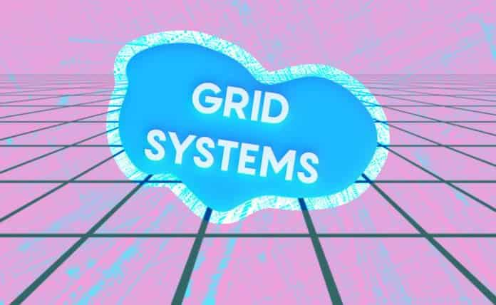 Image of a grid with a cloud that reads