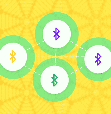 Graphic of a mesh Bluetooth network