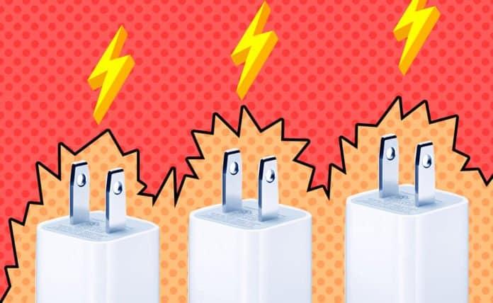 Image of the power converter blocks of phones