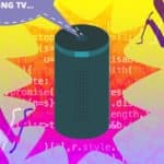 Image of an Amazon Echo Getting Hacked