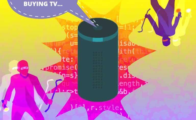 Image of an Amazon Echo Getting Hacked