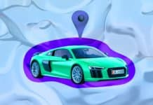 Image of an Audi being Geolocated