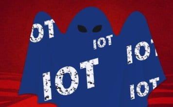 Image of a scary IoT ghost