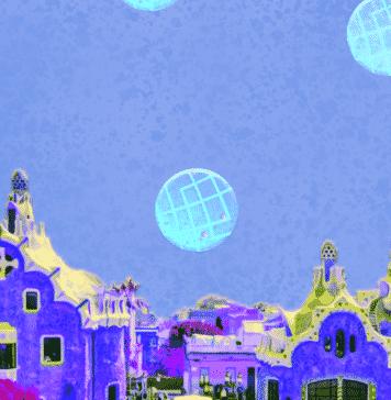 Image of the Barcelona skyline