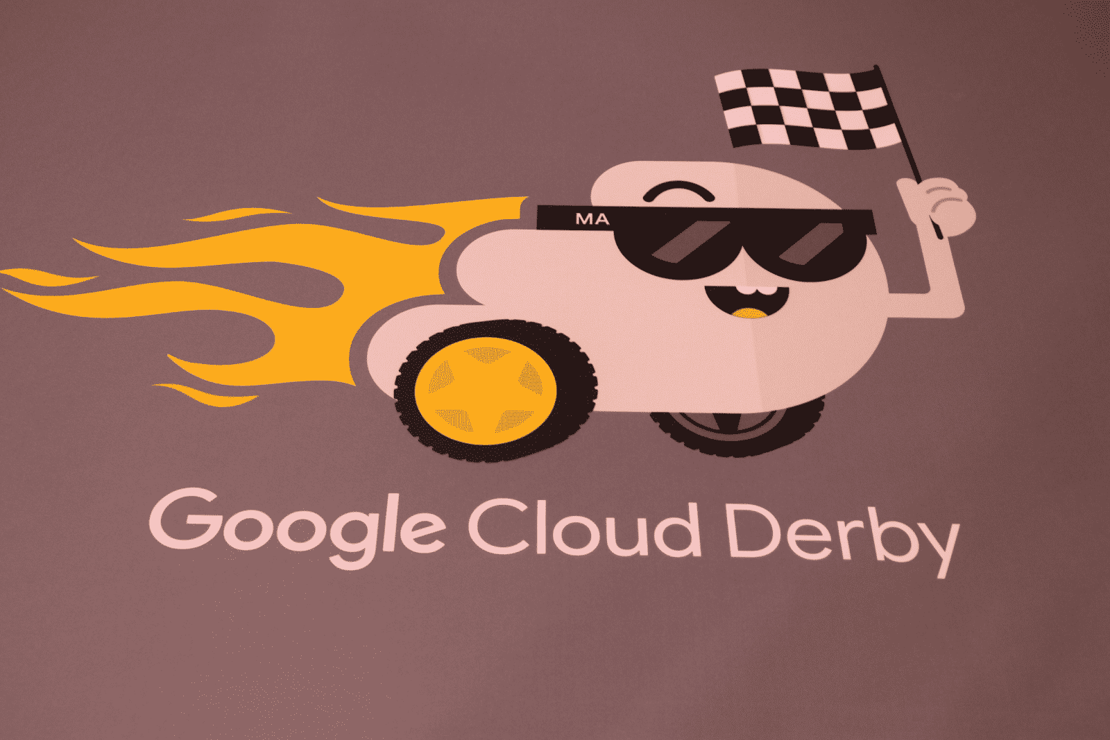 An image of the Cloud Derby welcome mat