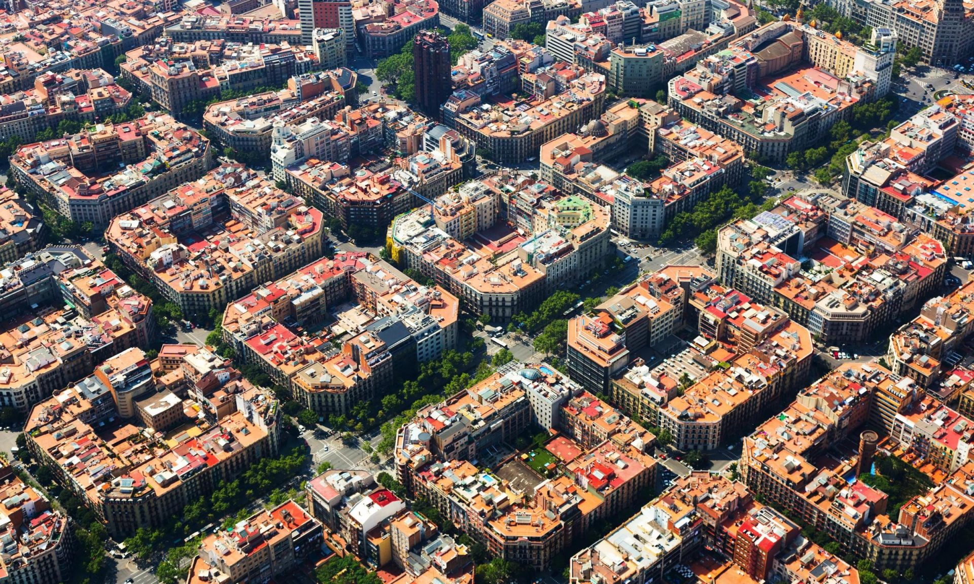 An image of Barcelona's superblocks