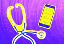 image of stethoscope and iphone