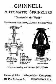 Grinnell Sprinkler Patent