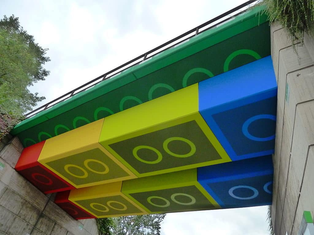 The Lego bridge in Wuppertal.