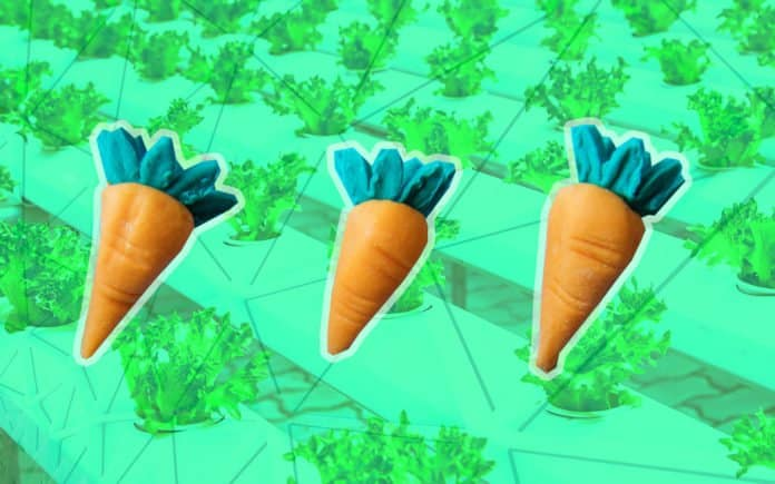 Vertical farming and three carrots