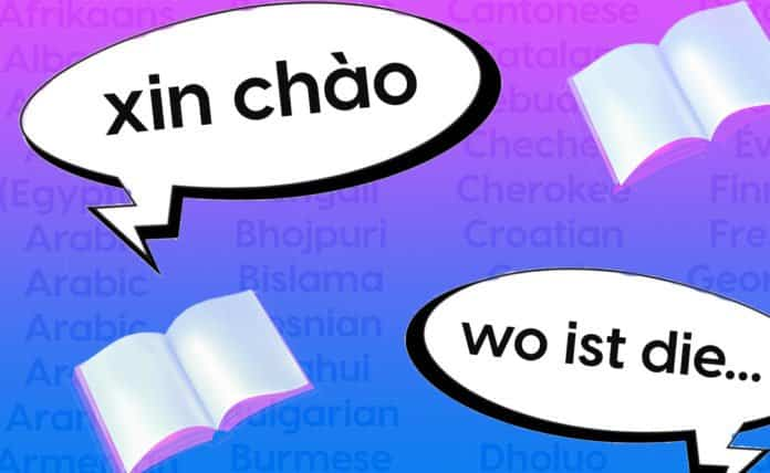 Image of two speech bubbles: one that says