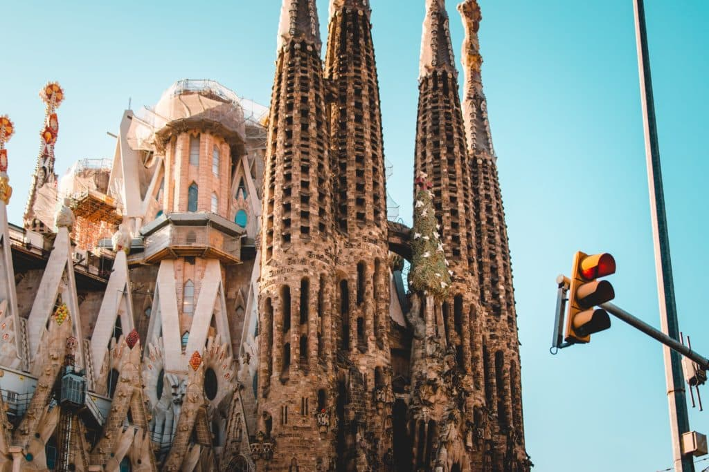 Gaudi's Sagrada Familia church in Barcelona