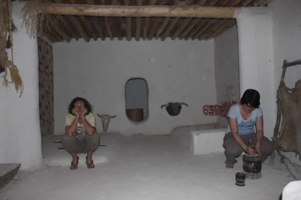 Dr. Sophie Moore and Colleague at work in Catalhoyuk