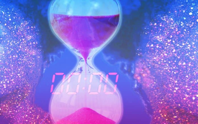 Hourglass and a timer