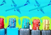 Suitcases and planes