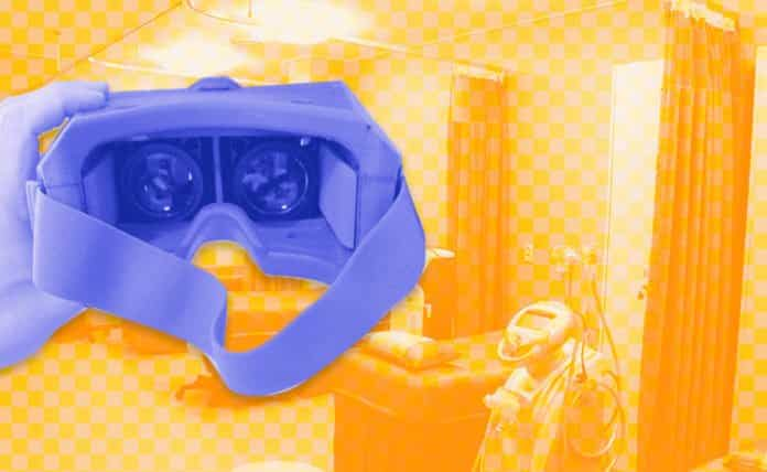 Image of AR goggles and a hospital room