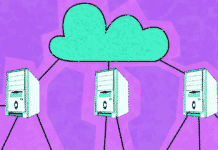 Image of a cloud and edge computers linked to it