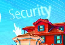 "An image of a house and the word ""Security"""