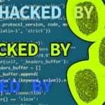 """IMage of fingerprints over Python code that says """"HACKED BY"""""""