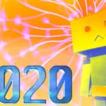 A robot and the number 2020