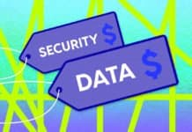 "Price tags that say ""Security"" and ""Data"""