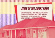 "Image of a house with a declaration in the back that says ""State of the Smart Home"""