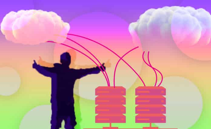 Image of a person with their thumbs up migrating information from a local server to the cloud