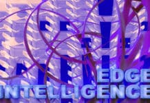 "The text ""Edge Intelligence"" with an abstract background"