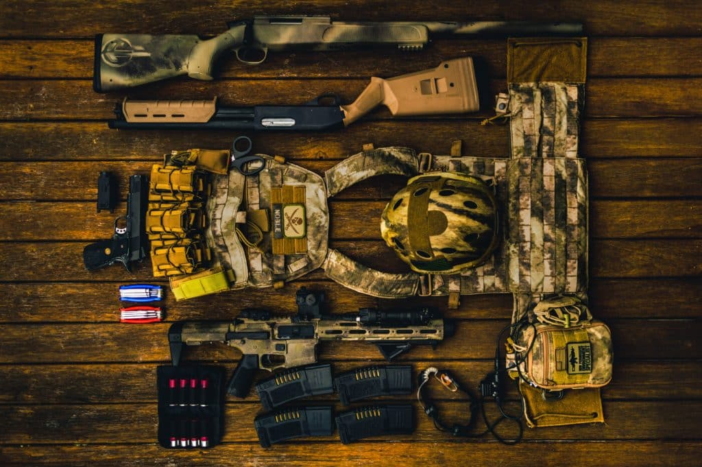 An image of military weapons.