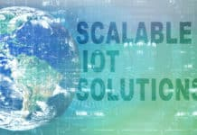 "The world and the text ""scalable IoT solutions"""