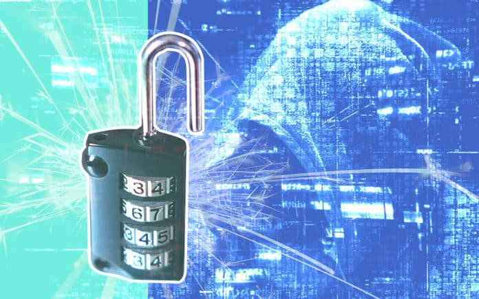A lock and images on a background